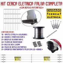 Kit Cerca Elétrica Falsa 40 Metros + Câmera Falsa Brinde