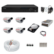 Kit 4 Cameras Infra Ir Cut Dvr 4 Canais Intelbras Full D1+hd