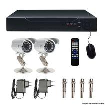 Kit Dvr 4 Canais Com 2 Cam 800l 1/3 Ccd Sony Showcel Cod346