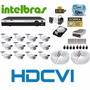 Kit Cftv 12 Cameras Hdcvi 720p Dvr 16 Canais Intelbras Hdcvi