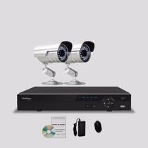 Kit Segurança Dvr Stand Alone Intelbras 4 Canais 2 Câmera