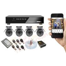 Kit 4 Cameras Completo Multilaser Facil Instalação