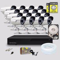 Kit 16 Cameras Segurança Infravermelho Dvr Stand Alone Hd1tb