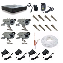 Kit Cftv Dvr 8 Canais + 4 Câmeras Infra 1000l Ccd Sony 30mts