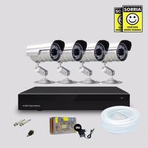 Kit 4 Cameras De Segurança Infravermelho Com Dvr Stand Alone