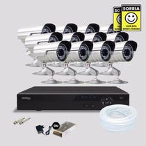 Kit Segurança Dvr Stand Alone 16 Canais Intelbras 12 Cameras