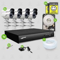 Kit Segurança Dvr Luxvision 16 Canais 1 Hd 8 Câmera Sony