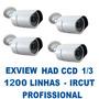 Kit Camera Segurança Infra Vermelho Ccd Sony 1/3 Ircut