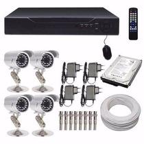 Kit Cftv 8 Ch Hdmi + 4 Cam Infra Ccd Sony Hd 1tb C777
