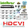 Kit Cftv Hdcvi 16 Camera 720p Hd Ir+dvr 16 Canais Intelbras