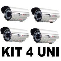 Câmera Ccd Cftv Infravermelho 36 Leds 1000 Linha Kit 4 Uni