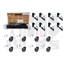 Kit Cftv Nvr 8 Canais + 8 Câmeras Ip 1.0mp Infra Wi-fi 30m