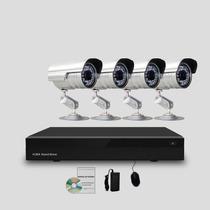 Kit Segurança Cftv Dvr Stand Alone 4 Canais, 4 Câmeras Infra