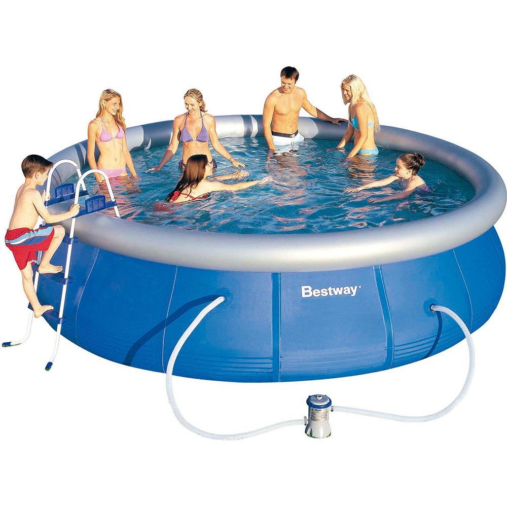 Kit piscina infl vel litros completo escada for Piscina 3000 litros