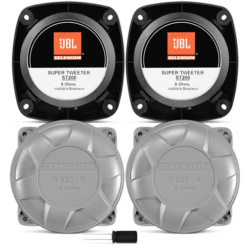 Kit Trio Selenium C/ 2 Driver D250x + 2 Super Tweeter St200