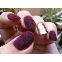Kit 12 Po Flocagem Unha Pelucia Aveludada Plush Fuzzy Nails