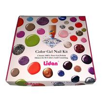 Gel Unha Color Kit Lidan Variedades 36 Itens Acrigel