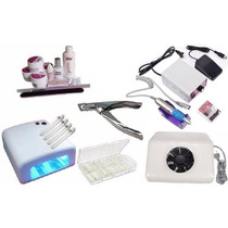 Kit Unha Gel Aspirador+ Cabine+ 300 Tips+ Lixadeira+ Alicate