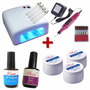 Kit Cabine Uv 110+ Lixa Eletrica + 3 Gel + Primer + Top Coat