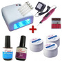 Kit Cabine Uv + Lixa Eletrica + 3 Gel Uv + Primer + Top Coat