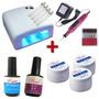 Kit Cabine Uv + Lixa Eletrica + 3 Gel Uv + Top Coat + Primer