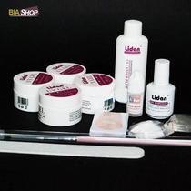 Kit Acrigel Manicure Profissional Gel Uv Topcoat Lidan