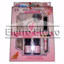 Mini Kit Gel Uv- Unha Acrílica Porcelana Vidro Fibra Acrigel