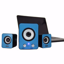 Caixa De Som Com Subwoofer 2.1 Para Pc Notebook Tablet Netbo