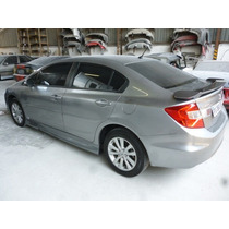 Spoiler Lateral Honda New Civic 2102-15 Em Fibra Sem Pintar