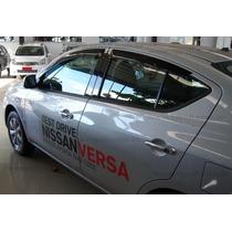 Nissan Versa - Jogo De Calha De Chuva Defletor Tg Poli 32004