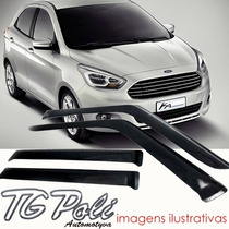 Calha Defletor Chuva Ford Novo Ka 2015 Sedan Hatch + Tg Poli
