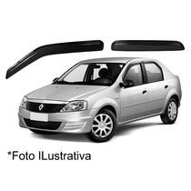 Jogo Calha De Chuva Defletor Renault Logan 4portas