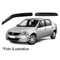 Jogo Calha De Chuva Defletor Renault Logan 4portas Original