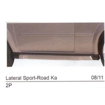 Spoiler Lateral Sport-road Ká 08/11 2 Portas Preto C/alum