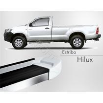 Estribo - Toyota Hilux Simples 2012 2013 2014 - Branco Polar