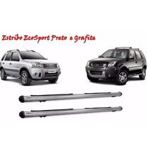 Estribo Lateral Ford Ecosport Preto Grafite Completo Com Kit