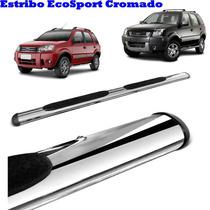 Estribo Lateral Ford Ecosport Cromado Cromo Completo Com Kit