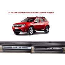 Kit Quebra Mato Preto Grafite Soleira Portas Renault Duster