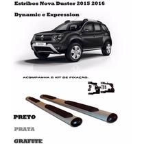 Estribo Nova Duster 2015 2016 Preto Prata Ou Grafite Com Kit