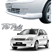 Spoiler Dianteiro Corsa Hatch E Sedan Ano 2002 À 2006 Preto