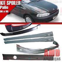 Kit Spoiler Palio 96 Á 99 2 Portas Dianteiro + Lateral Com T