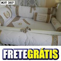 Kit Berço Luxo Personalizados 10 Pçs Provençal Frete Gratis