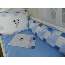 Kit Berço Pronta Entrega 9 Pçs Mickey Baby