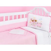 Kit Mini Berço Menino Menina 9 Pçs Enxoval Bebê