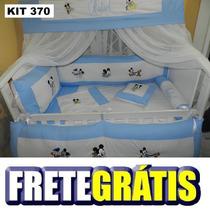 Kit Berço Personalizados 10 Pçs Mickey Baby E Amigos