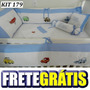 Kit Berço Personalizado 10pç Carros Disney Macquem Mat Azul