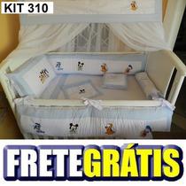 Kit Berço Personalizado 10 Pçs Mickey Baby E Amigos Azul