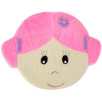 Tapete Para Quarto De Bebê Carinha De Menina Lb522 Rosa