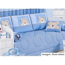 Kit Cama Infantil 6 Pçs Urso Aconchego Paulinha Baby R. 5180