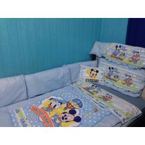 Kit Berço Completo C/ Mosquiteiro Mickey Baby Disney Menino
